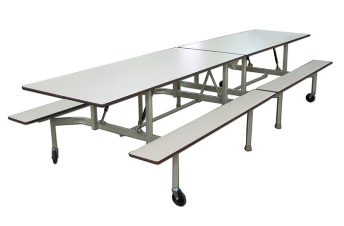 Table pliante avec bancs b 12 alpha tabco inc for Table pliante avec rallonge
