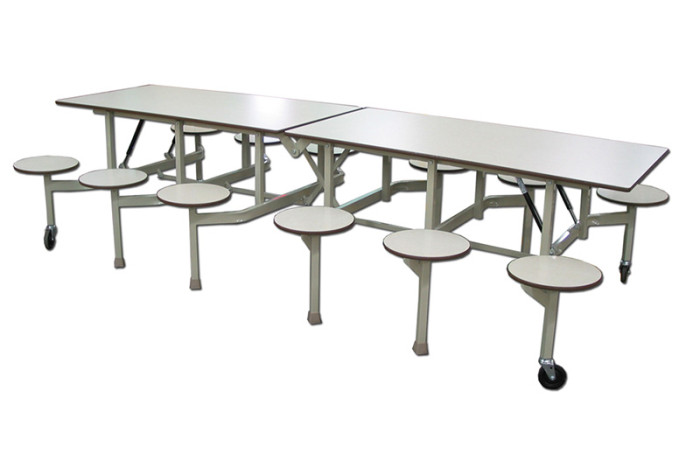 Table pliante avec tabourets s 10 alpha tabco inc for Table pliante avec rallonge